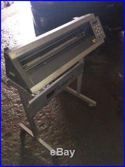 Roland CAMM-1 Servo GX-24 Desktop Vinyl Plotter Cutter with Stand and New Blade