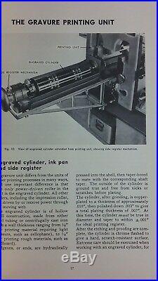 Rotogravure Printing & Equipment Manual 1954 & Aniline Printing Tech Booklet Vtg