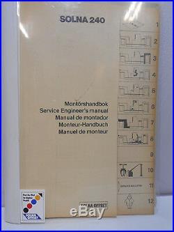 SOLNA 240 Printing Equipment Service Engineers Manual