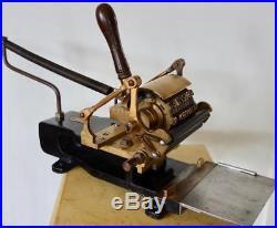 SUPERB ANTIQUE 1920s LEDA LITHOGRAPH LINOTYPE LETTERPRESS NUMBER PRINT MACHINE