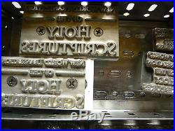 Set of type-high dies for Jehovah's Witnesses Publications