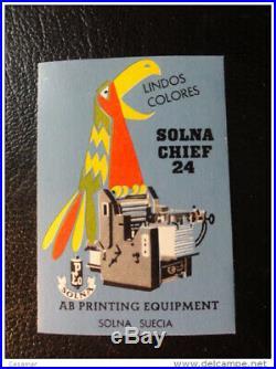 Solna ab Printing Equipment Werbung Vignette Poster Stamp