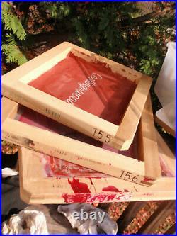 T-shirt Silk Screening Kit Press Machine Frames And Supplies