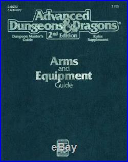 TSR AD&D 2nd Ed Arms and Equipment Guide (1st Printing) SC VG