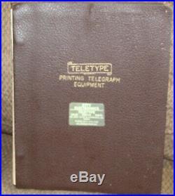 Teletype Printing Telegraph Equipment Instruction Manual 103 MA