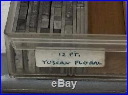 Tuscan Floral 12 pt Metal Type Printers Type Letterpress Type