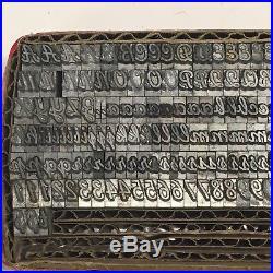 Unknown Font 18 pt Letterpress Type Vintage Printer's Lead Metal