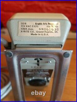Used X-Rite 328 Color Reflection Graphic Arts Densitometer Wizard Xrite A5