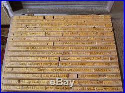 VTG HUGE SETOver 600 WOOD PRINT BLOCK STAMPS ALPHABET LETTER PRESS WORDS IMAGE