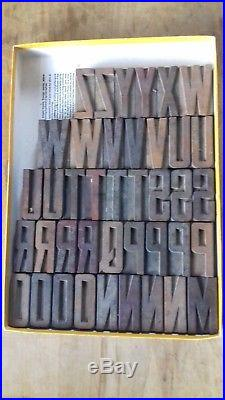 Vintage 88 x Wooden Letterpress Type-Face Font Print Block
