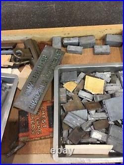 Vintage Bookbinders / Leather workers Letter & Numbers Complete Alphabet