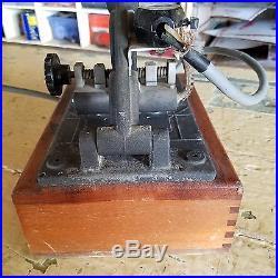 Vintage Franklin heated embossing stamping machine with number dies works