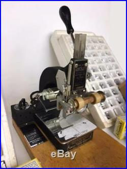 Vintage KINGSLEY Stamping Machine Model M-50 2 Line Type Foil Advertising -WORKS