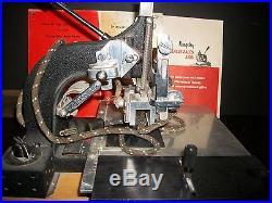 Vintage Kingsley Hot Foil Monogramming Stamping Machine M-50 2-line