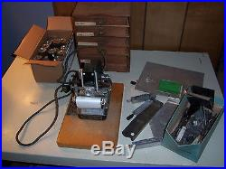 Vintage Kingsley Hot Foil Stamping Machine with 6 Boxes Letters & Foil