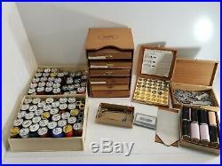 Vintage Kingsley Stamping Machine Co. / (8) Box Set & 75+ rolls of Foil EXTRAS