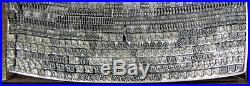 Vintage Metal Letterpress Printing Type ATF 14pt Liberty Script D32 7#