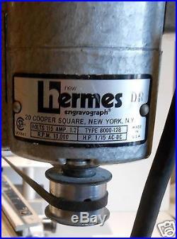 Vintage New Hermes Engraver Engravograph Machine With Fonts