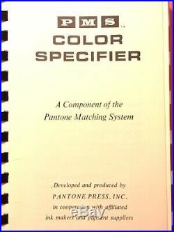 Vintage PANTONE Color Guide Chips Matching System Color Specifier Designers 1964