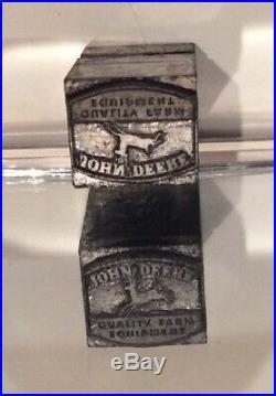 Vintage Printing Letterpress Printers Block John Deere Quality Farm Equipment
