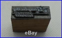 Vintage Printing Letterpress Printers Block Simplicity Power Equipment