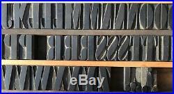 Vintage Wood Letterpress Print Type Block 61 Letters Punctuation 1 9/16