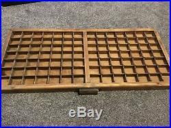 Vintage Wooden Letterpress Type Tray. Old Letterpress Printing equipment