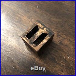 Vtg Copper Letterpress Cut Printers Block Stamps/initials Victorian Style 21