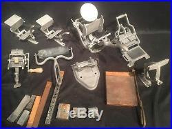 Vtg Kelsey Harvard Baltimore Cast Iron Platen Printing Press Collection Tabletop