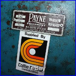 W. D. Payne ultra 2000 HIGH POWERED metal halide exposure lamp silk screen U2000
