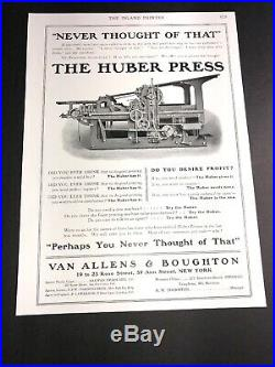 Wholesale Lot Of 11 Diff Printing Press Equipment Related Ads C 1910