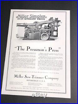 Wholesale Lot Of 13 Diff Printing Press Equipment Related Ads C 1910