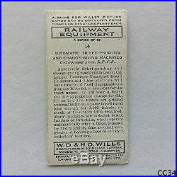 Wills Railway Equipment #14 Automatic Ticket Printing 1938 Cigarette Card (CC34)
