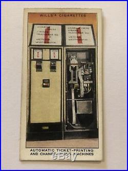 Willss Railway Equipment Cigarette Card #14 Automatic Ticket Printing