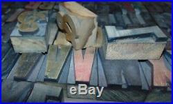 Wood Type Font 2 Inch Letterpress Printers Type