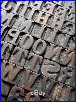 Wooden fontSerif, wood letterpress letters, printing block, type, alphabet, English