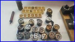 Working Antique Kingsley Hot Foil Stamping Machine & Accessories, Original Case